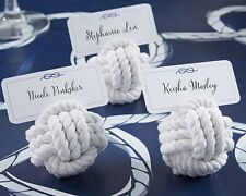 24 Nautical Rope Ocean Theme Wedding Place Card Holders Favors