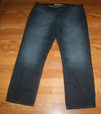 NWT Mens DKNY JEANS Whiskered Dark Denim Straight Leg Jeans Sz 40 W 30 L