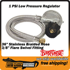 Gas Grill LPG Liquid Propane Gas Low Pressure 1 PSI Regulator Bayou M5LPH