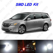 16x Ultra White LED Lights Interior Package kit for 2011-2015 2016 Honda Odyssey