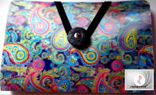 3D~LENTICULAR DIZZY PAISLEY COUPON HOLDER! NEW! VERY 3D! FREE SHIP! 1960-1970'S!