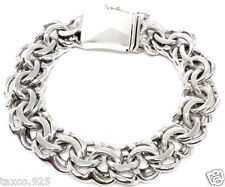 TAXCO MEXICAN 925 HEAVY STERLING SILVER MEN'S CHAIN LINK BRACELET MEXICO