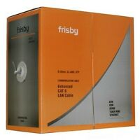 FRISBY CAT6 CAT 6 1000 ft BULK UTP LAN NETWORK Ethernet ATM ISDN CABLE WIRE