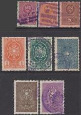 Serbia German Occupation Revenues 8 diff used stamps 1941 Barefoot cv $23