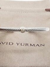 David Yurman Cable Classics Bracelet With Pave Diamonds