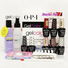 OPI GelColor Soak Off Gel Starter Intro Icons Kit: Base Top+ 10 OPI Color Set+..