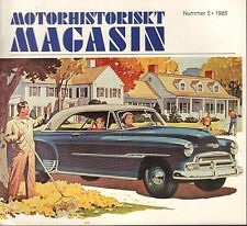 Motorhistoriskt Magasin Swedish Car Magazine #5 1985 Mix 1950 031617nonDBE