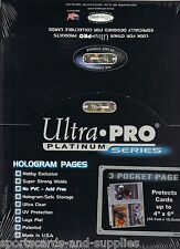 """100 ULTRA PRO 4"""" x 6"""" Archival 3 Pocket Photo Pages"""
