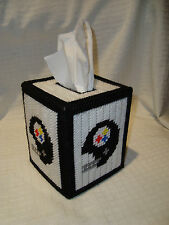 Pittsburgh Steelers NFL Football Handmade/Crafted Boutique Tissue Box Holder NEW