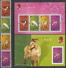 China Hong Kong 2003 China New Year of Ram stamp set Zodiac