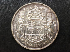 1951 Canada Fifty Cents George VI Silver Canadian Coin A1913