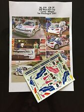 DECALS 1/24 PEUGEOT 306 KIT CAR CUOQ RALLYE ROUERGUE 2001 RALLY WRC TAMIYA