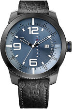 New Tommy Hilfiger Graham Leather Day Date Men oversize Watch 50mm 1791016 $135