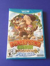 Donkey Kong Country Tropical Freeze Wii U *First Print* Blue Case  NEW