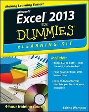 Excel 2013 ELearning Kit for Dummies by Faithe Wempen (2013, Paperback)
