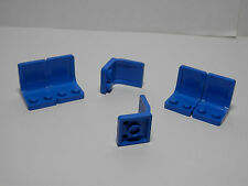 LEGOS  -  Set of 6 Minifig Utensil Seat Chairs for LegoFigs 2 x 2 BLUE Star Wars