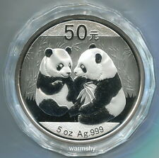 China 2009 Panda Commemorative Silver Coin Genuine 5 OZ 50 Yuan UNC Genuine