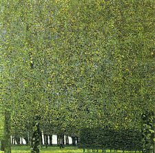 "Gustav Klimt ""The Park"" Reproduction of painting 12X12 canvas print"