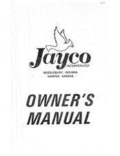 1973 Jayco Jay Cardinal King Swift Robin Eagle Popup Trailer Owners Manual