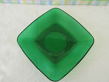 Vintage Anchor Hocking Forest Green Saucer