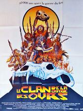 Affiche 40x60cm LE CLAN DE LA CAVERNE DES OURS/…CLAN OF THE CAVE BEAR 1986 NEUVE