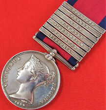 VINTAGE & RARE PRE WW1 MILITARY GENERAL SERVICE MEDAL 7 BARS *WOUNDED VITTORIA*