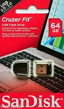 Sandisk Cruzer Fit 64GB USB Flash Drive 64GB USB Stick SDCZ33-064G-B35 NEU&OVP
