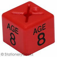 50 Coat Hanger Size Cubes Childrenswear AGE 8 RED Garment Clothes Markers UK