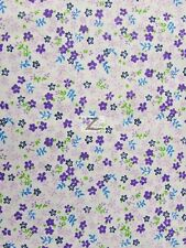 "MINI FLOWER PRINT POLY COTTON FABRIC - Purple - 58/59"" WIDTH SOLD BTY P270"