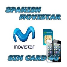 MOVISTAR 4G LTE SPANISH PREPAID SIM CARD INTERNET SPAIN