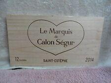 2014 CHATEAU CALON SEGUR SAINT ESTEPHE LE MAQUIS  WOOD WINE PANEL END