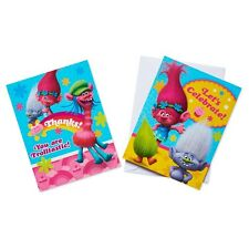 Trolls Birthday Party Invitations and Thank You Notes NEW
