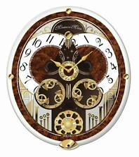 "Seiko Clock - ""Melodies In Motion: French Horns"" Musical Wall Clock QXM265BRH"