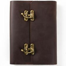 Ancicraft Refillable Leather Journal with Vintage Lock Lined Paper A5 Cover Gift