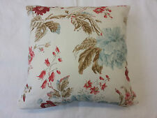 """'OPHELIA' By Nina Campbell Floral Cushion Cover 40cm x 40cm (16"""" x 16"""" Approx.)"""