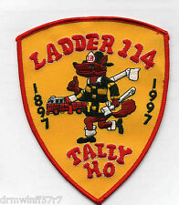 "New York City - Tower Ladder-114  ""Tally HO""  (4.5"" x 5.5"" size) fire patch"