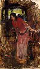 Waterhouse John William Study For The Lady Of Shallot A4 Print