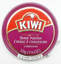 1 Kiwi CORDOVAN Shoe Polish Paste 32 g each Metal Can Tin Boots Shoes Leather