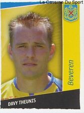 033 DAVY THEUNIS BELGIQUE KSK.BEVEREN STICKER FOOTBALL 2007 PANINI