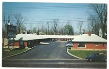Holiday Motel Richmond Indiana IN  Truck Cars Bare Trees Post Card