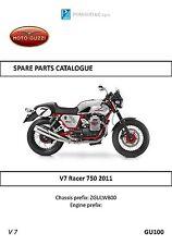 Moto Guzzi parts manual book 2011 V7 Racer 750