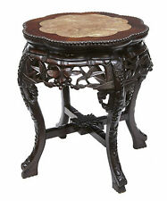 19TH CENTURY CHINESE CARVED HARD WOOD PLANT STAND TABLE