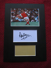ARSENAL - GUNNERS ALAN BALL HAND SIGNED A4 MOUNTED CARD with PHOTO DISPLAY - COA
