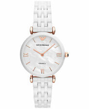 New Emporio Armani AR1486 White Ceramic Bracelet Ladies Watch in Original Box