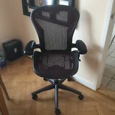 Herman Miller Aeron B Size Red Fully Loaded