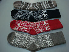 NWOT Women's Merino Wool Blend Socks Shoe Size 6-9 Multi w/ Design 4 Pair #6E