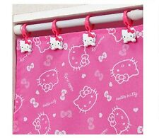 New Kawaii Hello Kitty shower curtain clip set from Japan!