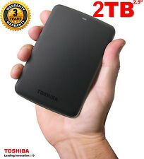 BRAND NEW 2TB Toshiba Canvio Basics USB3.0 Portable External Hard Disk Drive