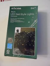 70 LED Warm White Net-Style Lights 4' x 4' END TO END CHRISTMAS DECORATION