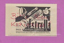 Norimberga, Pubblicità 1934, Paul Hoffmann Estrella luci colorate fanali a mano